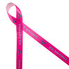 """Air Force ribbon in pink with gray text and blue logo printed on 5/8"""" white single face satin is the ideal ribbon for honoring women in the Air Force. This is the perfect ribbon for graduation from the Air Force Academy, retirement or silver wing celebrations. This is the perfect ribbon for party decor, party favors, gift wrap and floral design. All our ribbons are designed and printed din the USA"""