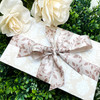 There is a simple beauty in tone on tone packaging. This gift wrap is so luxurious!