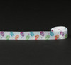 "Tossed eggs in all the traditional colors on 5/8"" white single face satin ribbon is the ideal ribbon for all the bunnies and baskets of the Season!"