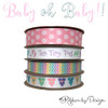 Our pastel micro mini chevron ribbon mixes perfectly with our baby ribbons! Be sure to have this on hand for all your baby shower and gift giving occasions.