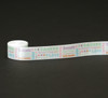 "Secular Easter Word block on  7/8"" white single single face satin ribbon"