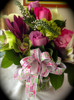 Our Mother's Day ribbon creates the ideal bow on this flower arrangement!