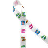 """Flip flops on 5/8"""" Single Face Satin ribbon is sure to make a splash at your next beach or pool party!"""
