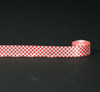 """Red and white gingham check ribbon on 7/8"""" Single Face Satin ribbon"""