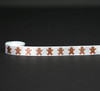 "Gingerbread men on 5/8"" white single face satin ribbon, 10 Yards"
