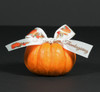 Add our Happy Thanksgiving ribbon to a mini pumpkin and add it to your table for a wonderful Fall tablescape.