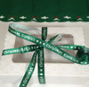 Our Christmas Cookies ribbon in green makes this box of cookies extra special for the Season!