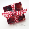 "Pink Valentine Hearts Ribbon on 7/8"" Lt. Pink Satin Ribbon, 10 Yards"