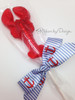 A fun favor for a clambake or wedding is dressed for the occasion in our handsome anchor ribbon with blue and white stripes! Designed and printed in the USA.