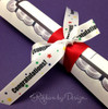 Graduation is the perfect time to tie our fun ribbon on a gift or favor!
