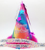 """Happy Birthday Ribbon with Sprinkles in primary colors on 7/8"""" White Single Face Satin, 10 yards"""