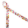 """Barbecue themed ribbon on 5/8"""" satin features the grill, hot dogs, hamburgers, ketchup and all the fixings for a great meal! Designed and printed in the USA"""