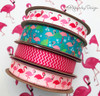 These bright and fun flamingo ribbons are ready for a summer time party!