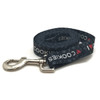 I (heart) Cookies dog leash with white lettering and an red heart on a gray paw print background will be a handsome addition to your pet's wardrobe!