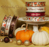 Our Fall Collection includes Happy Thanksgiving and We Give Thanks ribbons to make a beautiful vignette for your business or home.