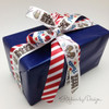 Mixed with our red and white stripe ribbon, this fun Father's Day gift will make Dad smile!