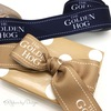 """This 1.5"""" wide grosgrain ribbon in two different colors for the same client gives depth and variety to their branding."""