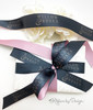 This very special custom ribbon began with a white ribbon! All the colors and design elements were added by our talented graphic designer! What a beautiful ribbon for our customer!