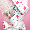 Many customers opt for art over logos! We love this signature star design from Soap and Glory!