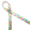 """Conversation hearts on 5/8"""" white single face satin are the ideal accent to any gift to get the party started!"""