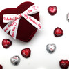 Our Happy Valentine's ribbon makes this simple red velvet chocolate box oh so elegant!