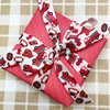 """Fire trucks ribbon, hats and hydrants on 5/8"""" white single face satin, 10 Yards"""