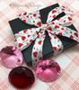 Oh so pretty! This lovely pink, red, gray and white combination makes a lovely gift!