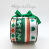 "Irish Flag Ribbon on 7/8"" White grosgrain, 10 yards"