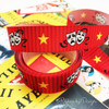 "Our theater themed ribbon with the masks of comedy and tragedy on 7/8"" white single face satin will make the gifts at any cast party truly pop!"