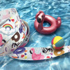 """Make the favors at your pool party really pop with our pool float ribbon! Our ribbon is 5/8"""" wide printed on white single face satin."""