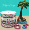 Mix our pool float ribbon with flamingos, summer drinks, flamingos and glamping ribbonfor a complete Summer party theme!