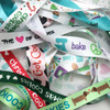Our baking grab bag is full of fun ribbons with a baking theme. You'll find cookies, christmas cookies, cupcakes and fun baking elements! What a great way to try a variety of our ribbons at 50% off!