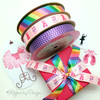 Mix and Match our chevron and pastel rainbow ribbons for your little dancer's special recital!