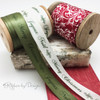 Soft sage and antique white make for a very romantic Holiday themed gift. Wrap a special gift for your sweetheart with these ribbons this year!