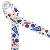 Cheerleading ribbon with fun colors and elements of the sport! Make this cheer ribbon part of the game!