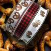 There's nothing like pretzels and beer! Pair these with our buffalo plaid ribbon for a fun bachelor or sports themed party!