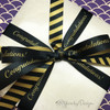 Mixing and  matching our black and gold stripes with our black and gold congratulations ribbons makes for a very handsome gift indeed!