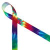 Tie dye ribbon in primary colors will make your 60's inspired ribbon ideal for the gifts and favors!