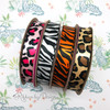 Mix and match our entire collection of animal prints to round out your jungle party theme ribbons!