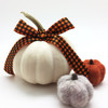 """Our 7/8"""" gingham in orange and black is perfect for Fall decorating!"""