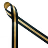 """Dispatcher ribbon, thin gold line printed in black on 5/8"""" gold single face satin ribbon."""