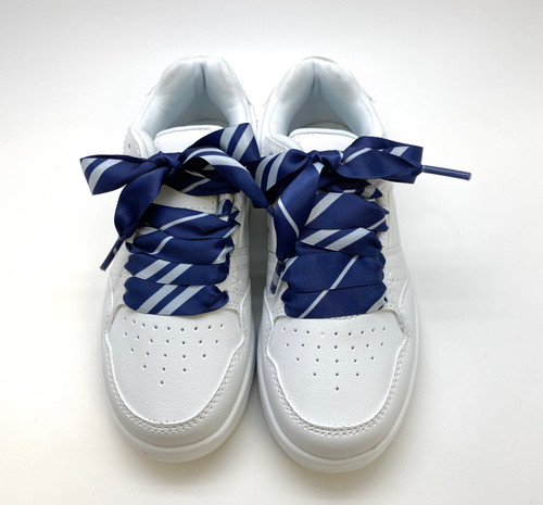 Satin shoelaces tie Hogwarts Ravenclaw design is perfect for adding some fun and fashion to your sneakers! This is a great shoelace for fun dance shoes, wedding shoes, cheerleading and recitals! All our ribbon shoelaces are printed using dye sublimation technology and can be washed, ironed and re-used! All our laces are designed and printed in the USA