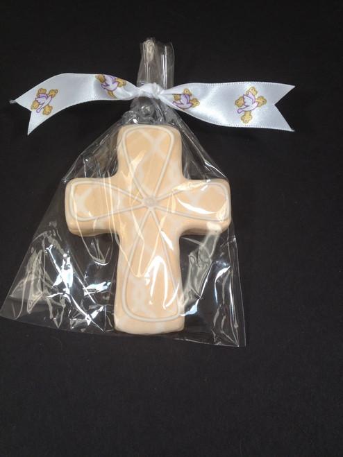 """Easter Blessings Ribbon on 7/8"""" White Satin"""