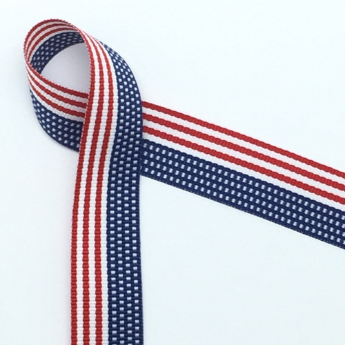 """The United State Flag is woven into this beautiful 7/8"""" wide ribbon!"""