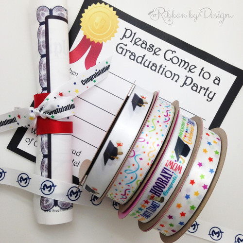 We have a wide variety of great ribbons to make your graduation party really pop! Choose from grad word block, grad hats, streamers and stars!