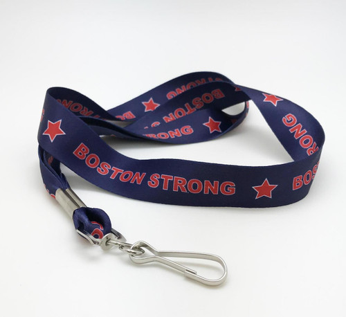 Our Boston Strong lanyard honors the motto of the memory of the Boston Marathon tragedy along the the strength and conviction if it's citizens. A perfect gift for the Boston sports fan to show pride of teams and city!