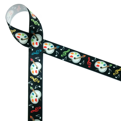 Artists palettes and musical notes are featured on our arts theme ribbon. Add this ribbon to any party celebrating the arts at school or in the community!