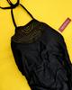 25pc $3.99 BLACK One-Piece Bathing Suits #15239T (j-5-1)