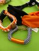28pc Grab Bag Orange Black FOOTBALL Jewelry #15286w (j-1-3)