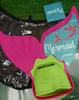 7pc KIDS Mermaid Swim Fins #15584k (L-3-1)